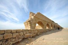 Caesarea Aqueduct. Ancient Roman aqueduct at Caesaria, in Israel Stock Photos
