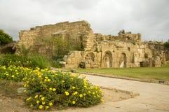 Caesarea-archäologische Fundstätte Stockbilder