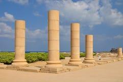 Caesarea columns. Royalty Free Stock Images