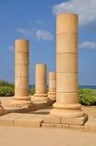 Caesarea columns. Stock Photo
