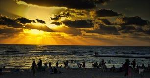 Caesarea en puesta del sol Imagen de archivo
