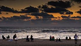 Caesarea en puesta del sol Fotos de archivo