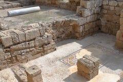 Caesarea fördärvar - Israel Royaltyfria Foton