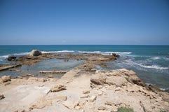 Caesarea gammal stad, Israel Fotografering för Bildbyråer