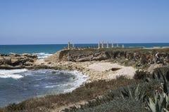 Caesarea hamn arkivbild
