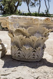 Caesarea hamnvägg royaltyfria bilder
