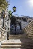 Caesarea hamnvägg royaltyfria foton