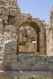 Caesarea Harbor wall Stock Photography