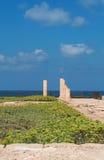 Caesarea, Israel, Middle East, Caesarea national park, ruins, sand, nature, skyline, Mediterranean Sea, columns Royalty Free Stock Photo