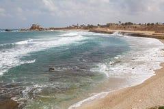 Caesarea Izrael Fotografia Royalty Free