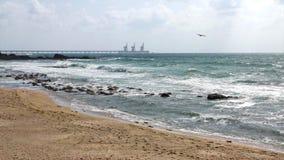 Caesarea Mar Mediterráneo Imagen de archivo