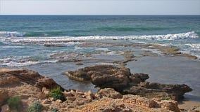 Caesarea Mar Mediterráneo Foto de archivo libre de regalías