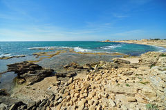Caesarea Maritima Harbor Royalty Free Stock Photography