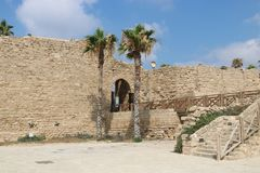 Caesarea Maritima national park in Israel. Caesarea Maritima was an ancient city and the national park contains several important sites from the Roman stock image