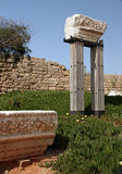 Caesarea Maritima ruïnes. Israël Stock Afbeeldingen