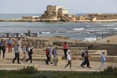 Caesarea Mittelmeer Stockbild