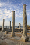 Caesarea museum under opened by sky Stock Image