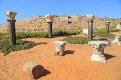 Caesarea Nationaal Park Stock Foto