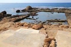 Caesarea Nationaal Park Stock Afbeeldingen