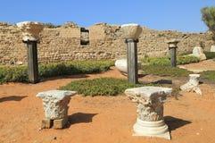 Caesarea nationalpark Arkivfoto