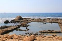 Caesarea nationalpark Royaltyfria Foton