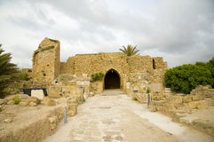 Caesarea remnant. Ancient ruins, israel Royalty Free Stock Photography