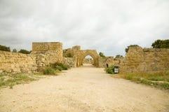Caesarea-Rest Stockbild