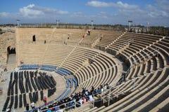 caesarea roman teater Arkivbilder