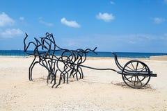 Caesarea-Ruinen lizenzfreie stockbilder