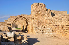 Caesarea ruins. Royalty Free Stock Images