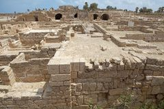 Caesarea ruins. At the Caesarea National Park, Israel Stock Images