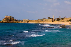 Caesarea sea view Royalty Free Stock Image