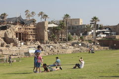 Caesaria Marítima play ground in israeli national park authority Stock Image
