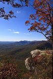 Caesars Head. State Park in upstate South Carolina during the fall. Notice the telescope to view the counties of Greenville and Pickens and Table Rock Mountain royalty free stock images