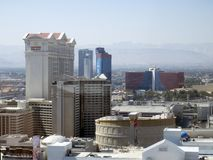 Caesars Palace Hotel & Casino, Las Vegas, USA seen from the High Roller Royalty Free Stock Photo