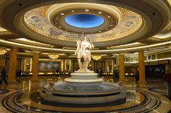 Caesars Palace, Caesars Palace, McCarran International Airport, lobby, landmark, column, ceiling. Caesars Palace, Caesars Palace, McCarran International Airport Royalty Free Stock Photo