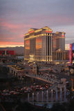 Caesars Palace an der Dämmerung in Las Vegas Lizenzfreie Stockfotografie