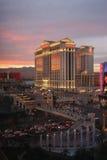 Caesars Palace en la oscuridad en Las Vegas Fotografía de archivo libre de regalías