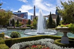 Caesars Palace gardens, Las Vegas Royalty Free Stock Photo