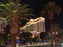 Caesars Palace Hotel & Casino by night, Las Vegas, USA stock photo