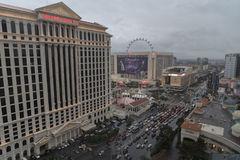 Caesars Palace hotel and casino in winter, Las Vegas Royalty Free Stock Photography