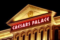 Caesars Palace Las Vegas. Las Vegas, USA - November 30, 2011: Caesars Palace is a large hotel and casino that opened in the 1960's in Las Vegas.  The buildings Stock Image