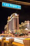 Caesars Palace and Las Vegas boulevard Stock Photo