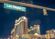 Caesars Palace and Las Vegas boulevard Royalty Free Stock Photo