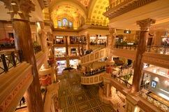 Caesars Palace, lobby, interior design, shopping mall, tobacco shop, tobacconist shop, tobacconist. Caesars Palace is lobby, tobacco shop, tobacconist shop Stock Photos