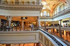 Caesars Palace, lobby, shopping mall, interior design, building. Caesars Palace is lobby, building and organ, pipe organ. That marvel has shopping mall, library Stock Photos