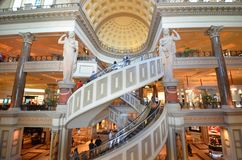 Caesars Palace, Nevada pałac hotel & kasyno, caesars palace, caesars palace, punkt zwrotny, zakupy centrum handlowe, budynek, tur Obrazy Stock