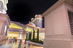 Caesars Palace side entrance at night Stock Image