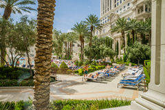 Caesars Palace swimming pool area Stock Photos