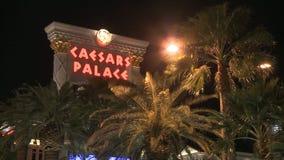 Caesars Palacesemesterort stock video